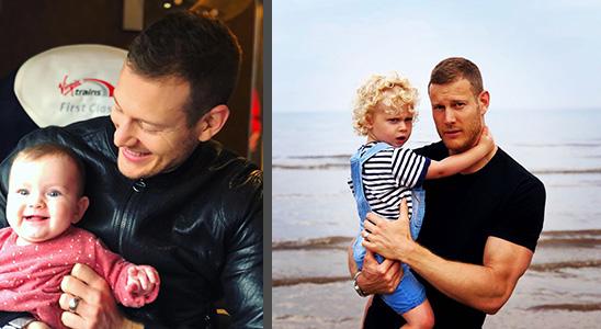 Том Хоппер с детьми