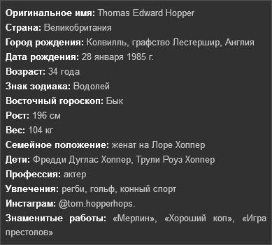 Информация о Томе Хоппере